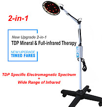 2-in-1 TDP Mineral and Full-infrared Therapy Floor Standing Lamp 110V or 220V